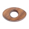 Shell Oval With Center Hole 15x25mm Dark Copper